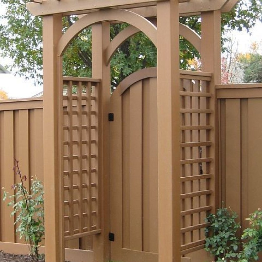 Wood Garden Arbor with Gate