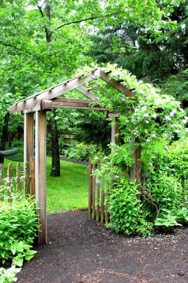 Garden Arbor with Vines