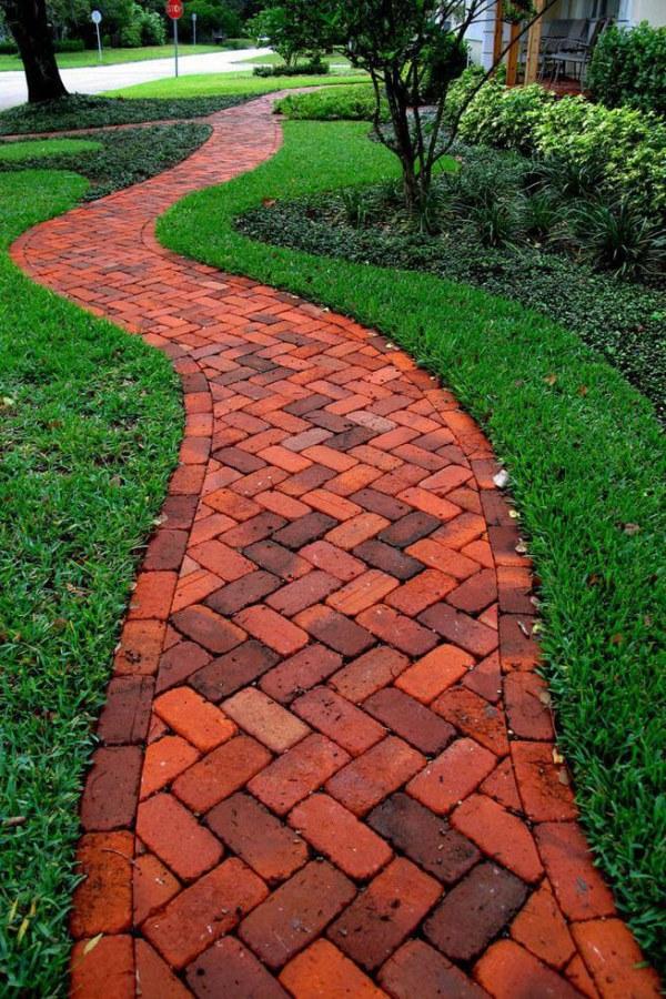 Red Stone Garden Path