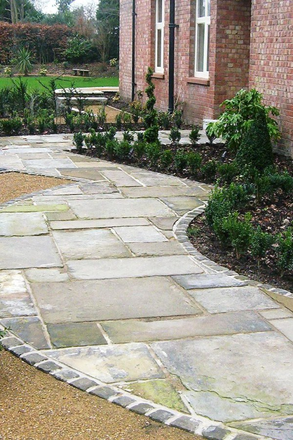 Stone Garden Path with Border