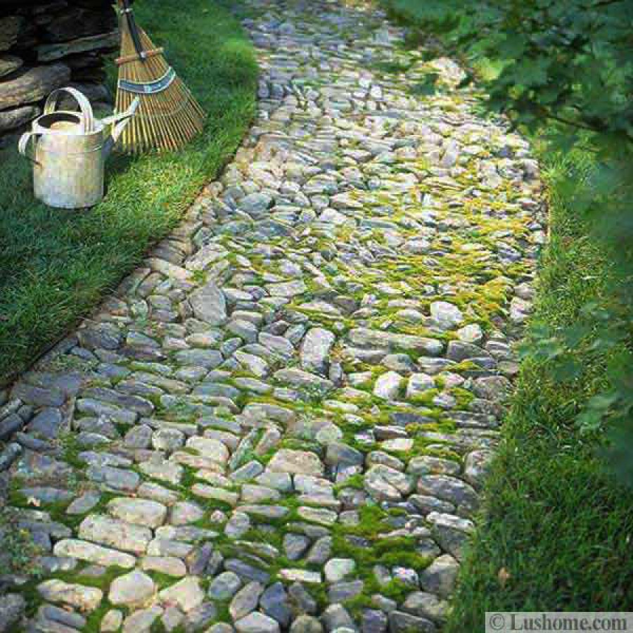 Pebble Stone Garden Path