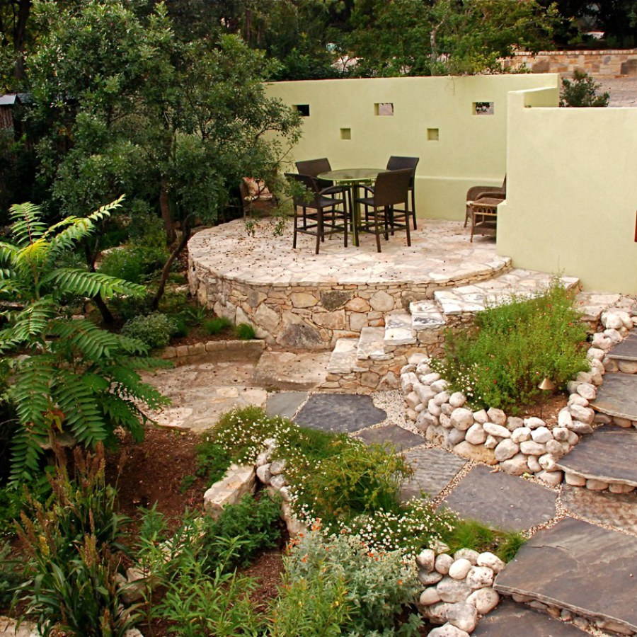 Stone Patio Landscape