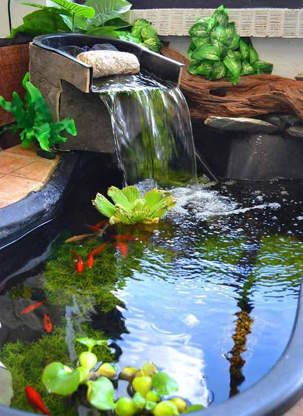 Homesthetics Net 21 Small Garden Backyard Aquariums Ideas That1311cfa030587a6b583e656783be0cef